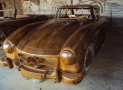 Mercedes Benz 300SL made of wood