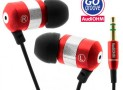 GOgroove audiOHM Ergonomic Retro Red Earbuds