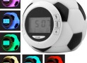 Soccer Clock w/ Alarm, Date, Natural Sounds & Color Backligh