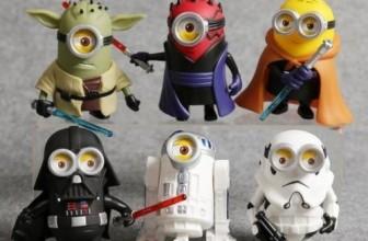 6 Minions Figures Star Wars