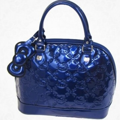 Hello Kitty Midnight Blue Patent Handbag