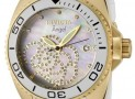 Angel Collection Cubic Zirconia Accented Polyurethane Watch