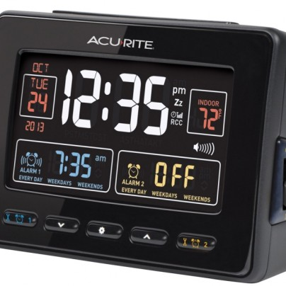 Atomic Dual Alarm Clock with USB Charging