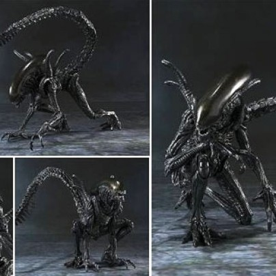 Alien vs. Predator Alien Warrior SH MonsterArts Die-Cast Metal Action Figure