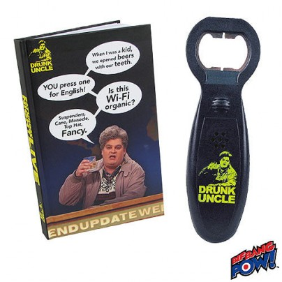 Saturday Night Live Drunk Uncle Journal and Bottle Opener with Sound