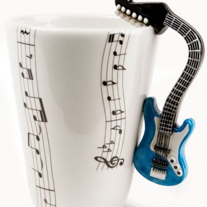 Blue Guitar Handmade Coffee Mug