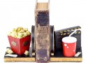 Bookends Popcorn Soda Movie Reel
