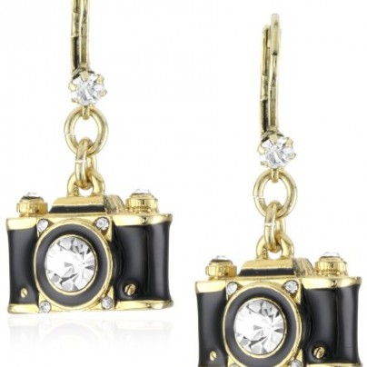 Camera Drop Earrings
