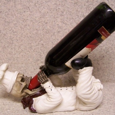 Chef Skeleton Skull Wine Bottle Holder