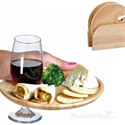 Wooden Appetizer Plates