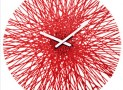 Wall Clock Silk transparent red