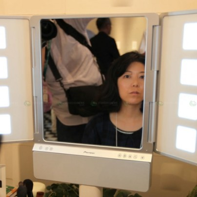 Pioneer help you to apply makeup with a mirror