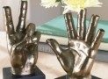 """Give Them A Hand"" Vases"