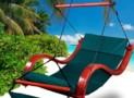 Deluxe Beach Wood Hammock Swing Lounge Chair