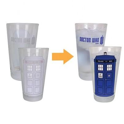 Doctor Who Color-Changing TARDIS 2 oz. Glass Set of 4