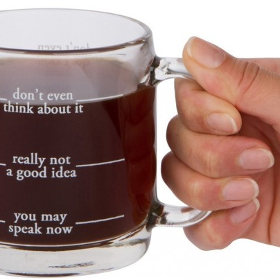 Don't Even Think About It Funny Glass Coffee Mug