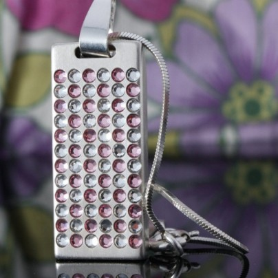 Emotion Silver Swarovski 32GB USB 2.0 Flash Drive