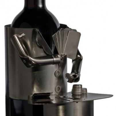 Fabulous Poker Player Wine Bottle Holder Hand Made