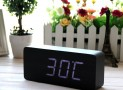 Fashionable Wood Grain LED Alarm Clock