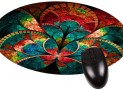 Flower Petals Round Mouse pad