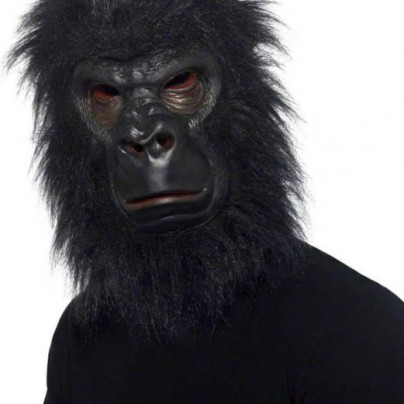 Furry Black Gorilla Mask
