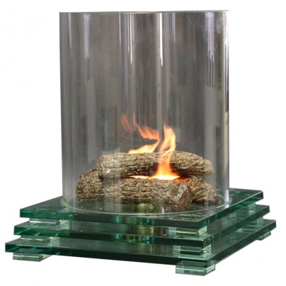 Glass Fire Pit Indoor or Outdoor Fireplace