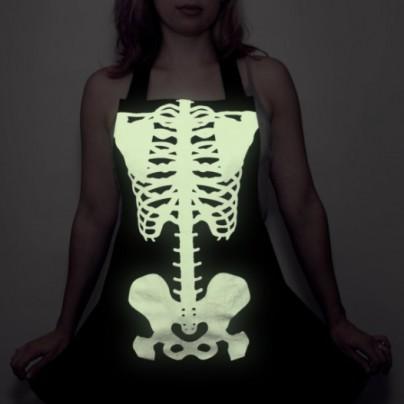 Glow-in-the-dark Skeleton Apron