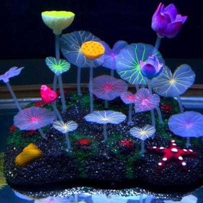 Glowing Effect Artificial Lotus Root Aquarium Ornament