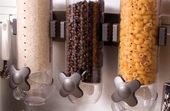 Indispensable SmartSpace Wall Mount Triple Dry-Food Dispenser