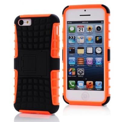 Iphone 5c Case Orange 2 in 1 Silicon case