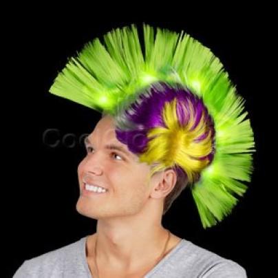 LED Mohawk Wig