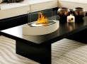 Lexington Tabletop Ethanol Fireplace in Beige