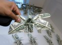 Origami Locusts Made of Money