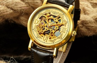Men's Automatic Mechanical Hollow Leather Waterproof Watches