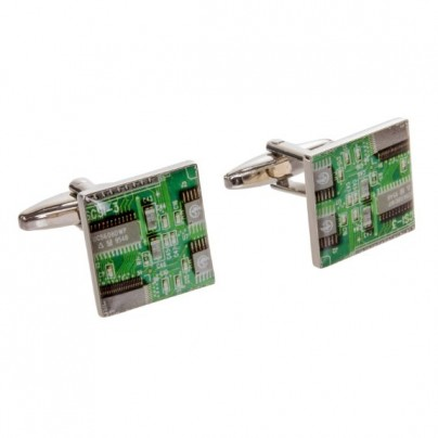 Mens Circuit Board Look Cufflinks