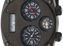 Mountain Compass Analog Stainless Steel Watch