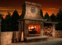 Colonial Outdoor Fireplace