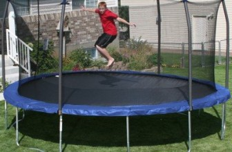 Oval Trampoline with Spring Pad