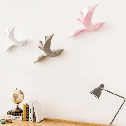 PAPA  Home Decoration DIY Paper Art – Bird Gold