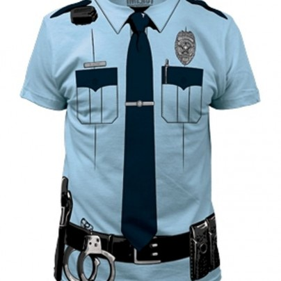 Police Officer Costume Tee T-Shirt