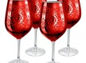 Red Brocade Goblet Glasses