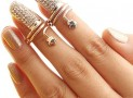 Rhinestone Nail Rings