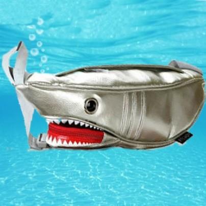 Shark Single-shoulder Bag Silver