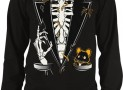Skeleton Tuxedo Men's Thermal Shirt