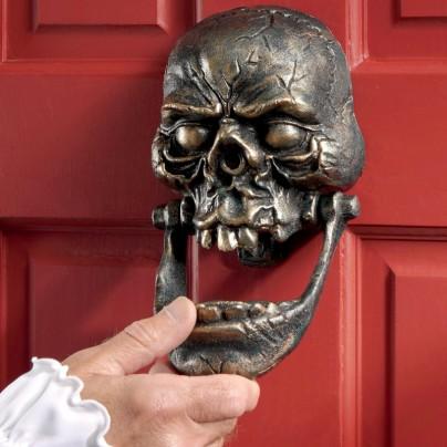 Skull Cast Iron Door Knocker