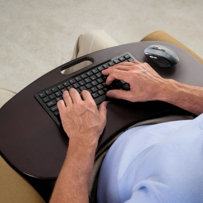 The Wireless Lap Desk Keyboard