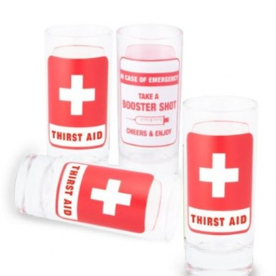 Thirst Aid First Aid Glass Shot Glasses