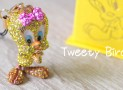 Tweety Pure Finishing Rhinestone Jewelry Key-Chain