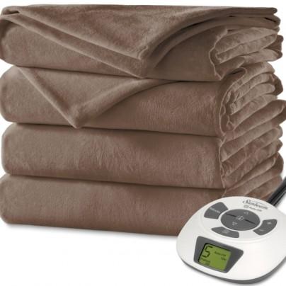 Velvet Plush Heated Blanket