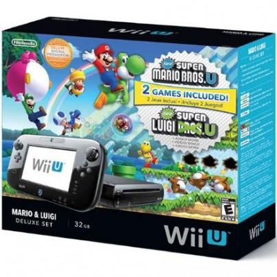Wii U Deluxe Set with New Super Mario Bros U and New Super Luigi U